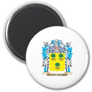 Van-Den-Bogaert Coat of Arms - Family Crest 6 Cm Round Magnet