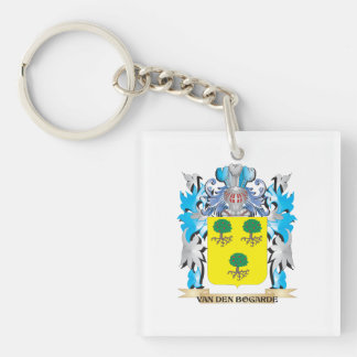 Van-Den-Bogarde Coat of Arms - Family Crest Single-Sided Square Acrylic Keychain