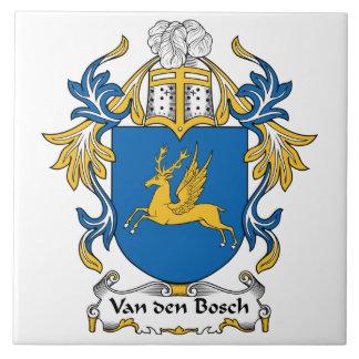 Van den Bosch Family Crest Large Square Tile