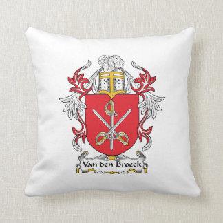 Van den Broeck Family Crest Cushions