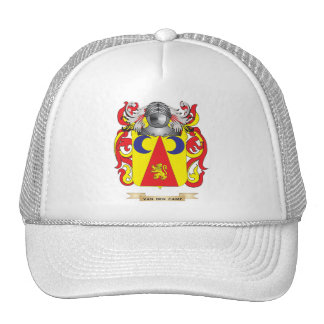 Van den Camp Family Crest (Coat of Arms) Hats