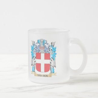 Van-Den Coat of Arms - Family Crest Frosted Glass Mug