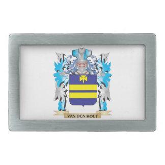 Van-Den-Hout Coat of Arms - Family Crest Rectangular Belt Buckles