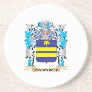 Van-Den-Hout Coat of Arms - Family Crest Drink Coaster