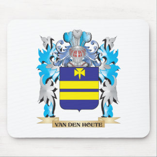 Van-Den-Houte Coat of Arms - Family Crest Mouse Pad