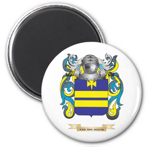 Van den Houte Family Crest (Coat of Arms) Refrigerator Magnets