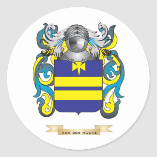 Van den Houte Family Crest (Coat of Arms) Stickers