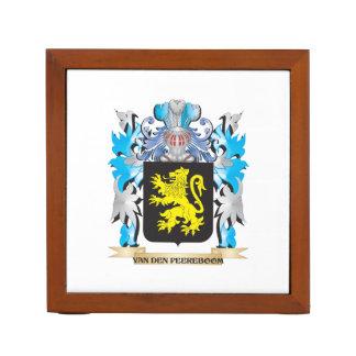 Van-Den-Peereboom Coat of Arms - Family Crest Desk Organizer