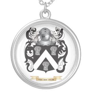 Van den Velde Family Crest (Coat of Arms) Personalized Necklace