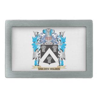 Van-Den-Velden Coat of Arms - Family Crest Rectangular Belt Buckles