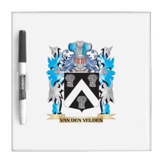 Van-Den-Velden Coat of Arms - Family Crest Dry-Erase Whiteboard