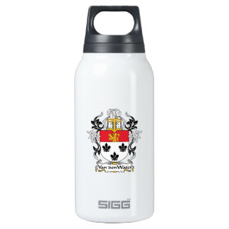 Van den Water Family Crest Insulated Water Bottle