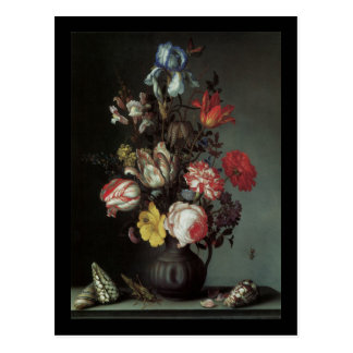 Van Der Ast Flowers in a Vase Postcard