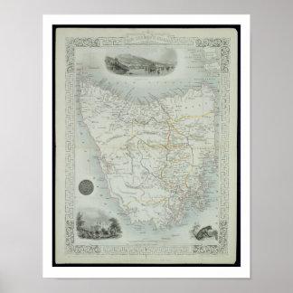Van Diemen's Island or Tasmania, from a Series of Poster