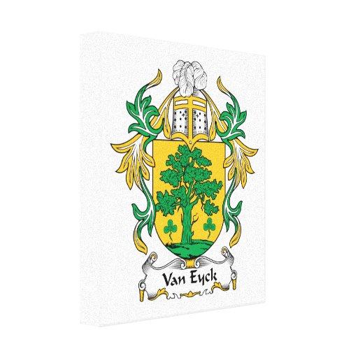 Van Eyck Family Crest Gallery Wrap Canvas