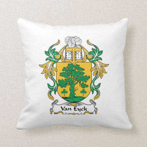 Van Eyck Family Crest Pillow