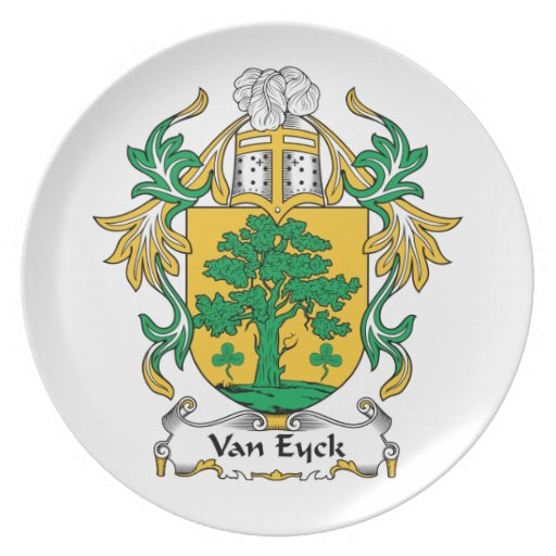Van Eyck Family Crest Dinner Plate