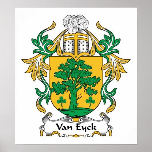 Van Eyck Family Crest Print