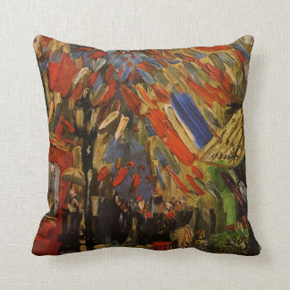 Van Gogh; 14th of July Celebration in Paris Throw Pillow