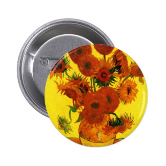 Van Gogh 15 Sunflowers 6 Cm Round Badge