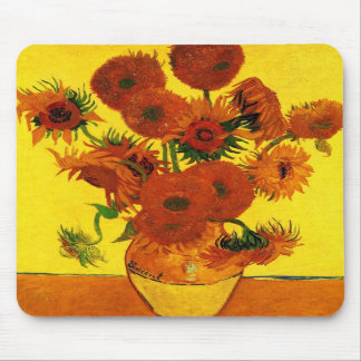 Van Gogh 15 Sunflowers Mouse Pads