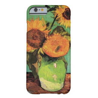 Van Gogh 3 Sunflowers in a Vase Vintage Fine Art Barely There iPhone 6 Case