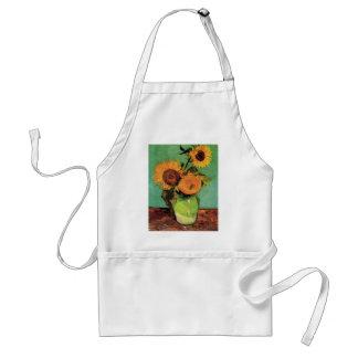 Van Gogh 3 Sunflowers in a Vase Vintage Fine Art Standard Apron
