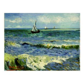 Van Gogh - A Fishing Boat at Sea Postcard