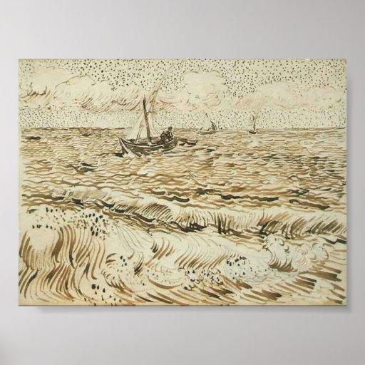 Van Gogh - A Fishing Boat at Sea Print