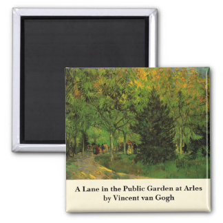 Van Gogh A Lane in the Public Garden at Arles Magnet