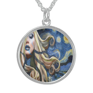 Van Gogh : A Starry Night Sterling Silver Necklace