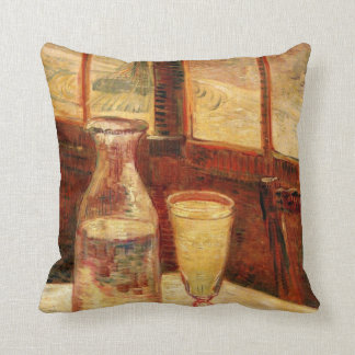 Van Gogh Absinthe Vintage Impressionism Still Life Throw Pillow