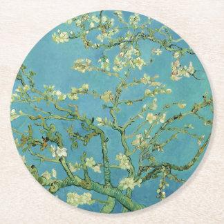 Van Gogh   Almond Blossom   1890 Round Paper Coaster
