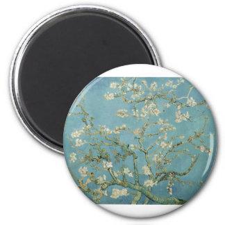 Van Gogh Almond Blossom 6 Cm Round Magnet