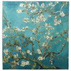 Van Gogh Almond Blossoms art white flowers on blue Napkin