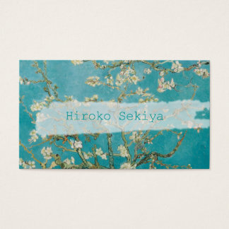 van gogh almond blossoms business card