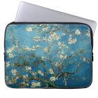 Van Gogh Almond Blossoms Vintage Floral Blue Laptop Sleeve