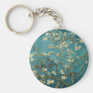 Van Gogh Almond Branches In Bloom Basic Round Button Key Ring