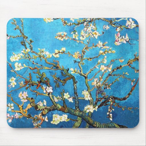 Van Gogh Almond Branches Post-Impressionism Mouse Pads