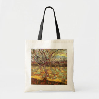 Van Gogh Apricot Trees in Blossom, Vintage Art Budget Tote Bag