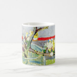 Van Gogh Art, Blossoming Almond Branch in a Glass Basic White Mug