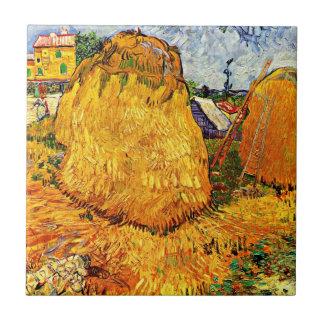 Van Gogh art: Haystacks in Provence Tile