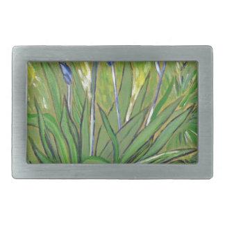 Van Gogh art  Irises, acrylic reproduction Belt Buckles
