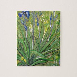 Van Gogh art  Irises, acrylic reproduction Jigsaw Puzzle