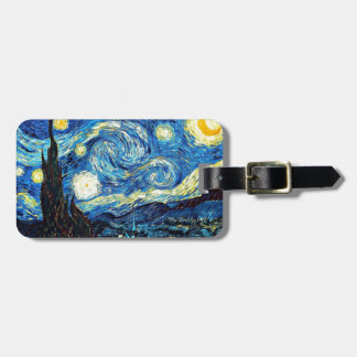 Van Gogh art: Starry Night Luggage Tag