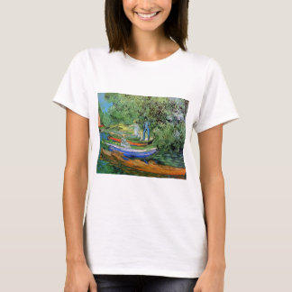 Van Gogh Bank of Oise at Auvers, Vintage Fine Art T-Shirt