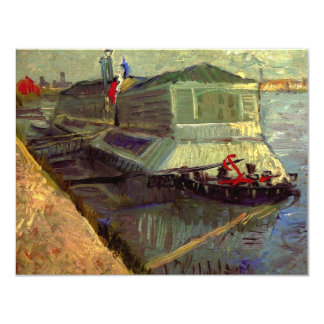 Van Gogh Bathing Float on the Seine at Asniere Card