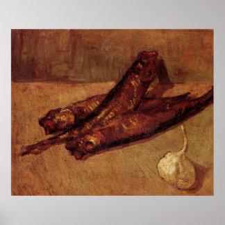 Van Gogh Bloaters Garlic Vintage Still Life Art Poster