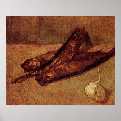 Van Gogh, Bloaters Garlic, Vintage Still Life Art Poster