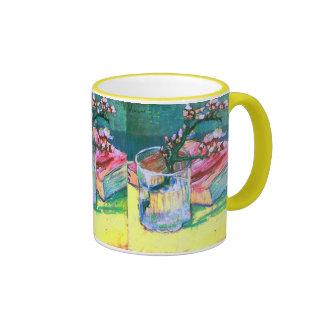 Van Gogh Blossoming Almond Branch Glass Book(F393) Mugs